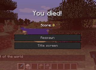 Cách để không mất đồ khi chết trong game minecraft