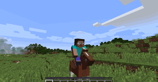 Cưỡi ngựa trong minecraft