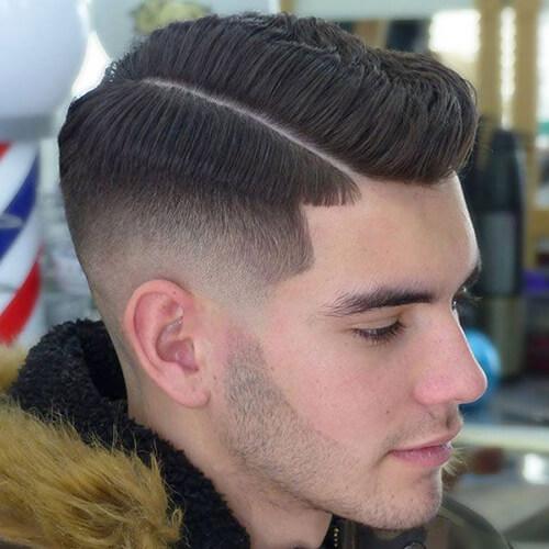 Kiểu tóc side part ngắn