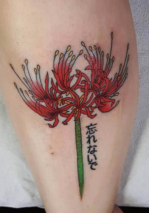 Hình xăm hoa bỉ ngạn cho nam