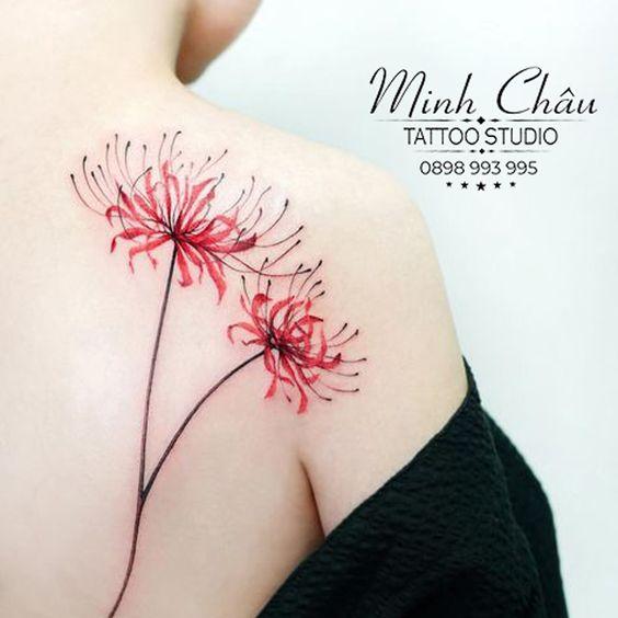 Tattoo hoa bỉ ngạn