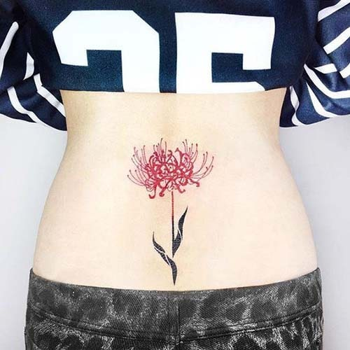 Tatoo hoa bỉ ngạn đẹp