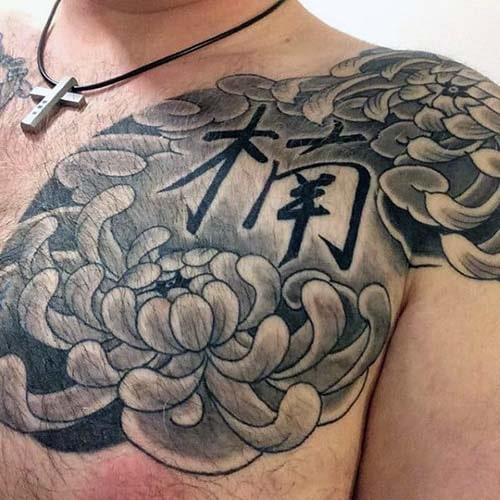 Hình xăm hoa cúc Nhật cổ