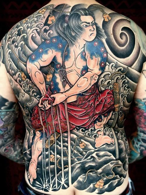 Hình xăm Nhật cổ full lưng