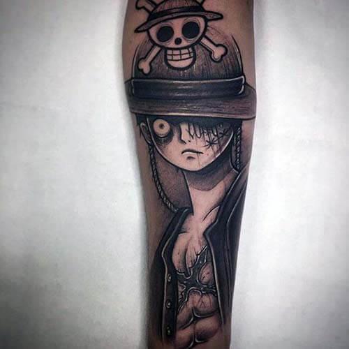 Hình xăm Vua hải tặc - One Piece