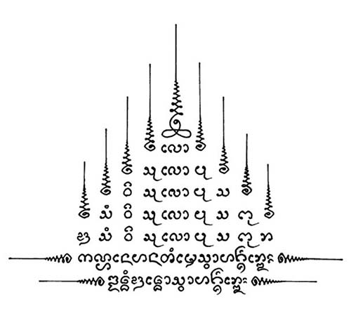 Hình xăm Gao Yord Sak Yant (9 đỉnh)