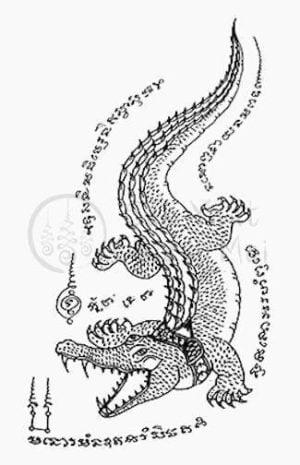 Hình xăm cá sấu truyền thống Thái Lan