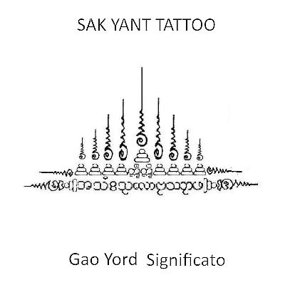 Hình xăm Khmer Gao Yord 9 đỉnh