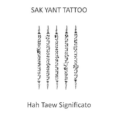 Hình xăm Khmer Haw Taew 5 dòng