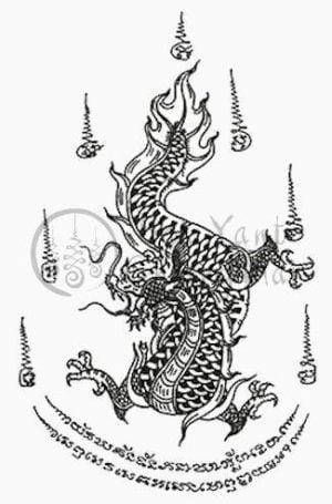 Hình xăm rồng truyền thống Thái Lan